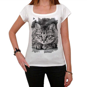 American Shorthair Cat Tshirt White Womens T-Shirt 00222
