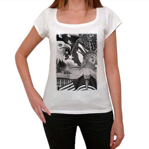American Symbols Womens Short Sleeve Round Neck T-Shirt 00111