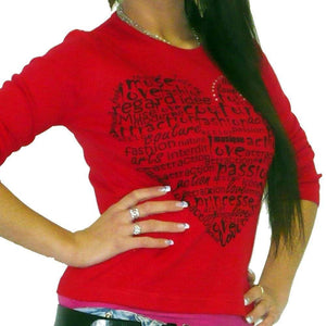 Amour: Women's  T-shirt Pretty long-sleeve ONE IN THE CITY - Ultrabasic