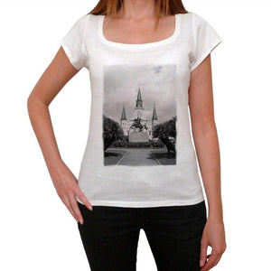 Andrew Jackson Monument Womens Short Sleeve Round Neck T-Shirt 00111