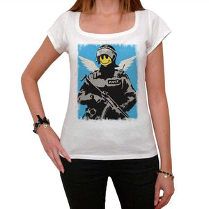 Angel Police Tshirt White Womens T-Shirt 00163