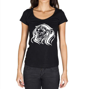 Angry Lion Head Tattoo 1 Black Gift Tshirt Black Womens T-Shirt 00165