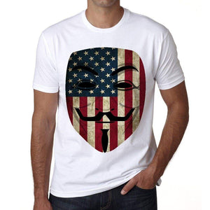 Anonymous Usa Mens Short Sleeve Round Neck T-Shirt