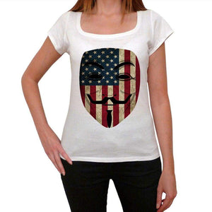 Anonymous Usa Womens Short Sleeve Round Neck T-Shirt 00111