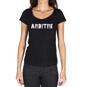 Arbitre French Dictionary Womens Short Sleeve Round Neck T-Shirt 00010 - Casual