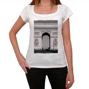 Arc De Triomphe Paris Womens Short Sleeve Scoop Neck Tee 00171