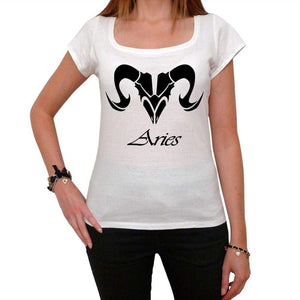 Aries Tribal Tattoo 2 Womens Short Sleeve Scoop Neck Tee 00161