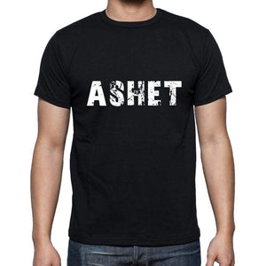 Ashet Mens Short Sleeve Round Neck T-Shirt 5 Letters Black Word 00006 - Casual