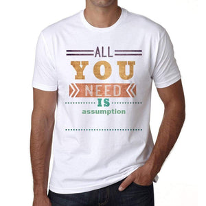 Assumption Mens Short Sleeve Round Neck T-Shirt 00025 - Casual