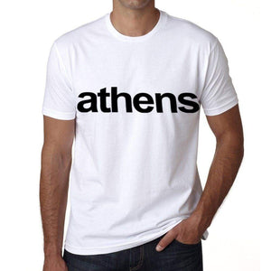 Athens Mens Short Sleeve Round Neck T-Shirt 00047