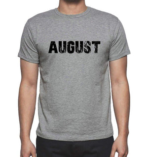 August Grey Mens Short Sleeve Round Neck T-Shirt 00018 - Grey / S - Casual