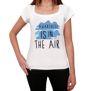 Awareness In The Air White Womens Short Sleeve Round Neck T-Shirt Gift T-Shirt 00302 - White / Xs - Casual