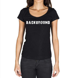 Background Womens Short Sleeve Rounded Neck T-Shirt - Casual
