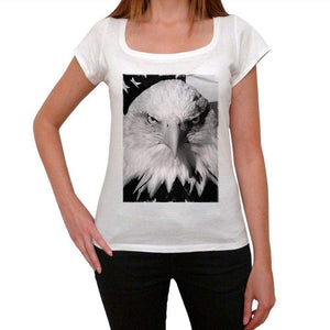 Bald Eagle Womens Short Sleeve Round Neck T-Shirt 00111