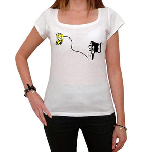 Banana Bomb Tshirt White Womens T-Shirt 00163
