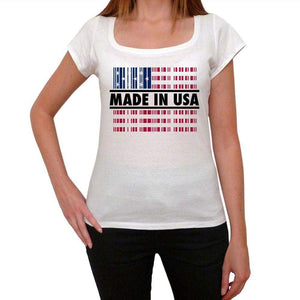Bar Code Made In Usa Womens Short Sleeve Round Neck T-Shirt 00111