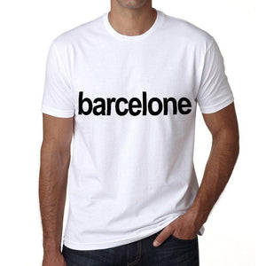Barcelone Mens Short Sleeve Round Neck T-Shirt 00047