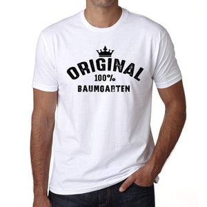 Baumgarten 100% German City White Mens Short Sleeve Round Neck T-Shirt 00001 - Casual
