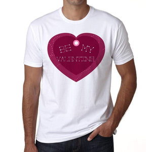Be My Valentine Heart Shaped Mens Tee White 100% Cotton 00156