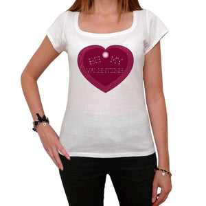 Be My Valentine Heart Shaped Tshirt White Womens T-Shirt 00157