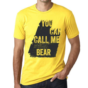 Bear You Can Call Me Bear Mens T Shirt Yellow Birthday Gift 00537 - Yellow / Xs - Casual
