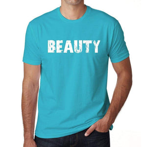 Beauty Mens Short Sleeve Round Neck T-Shirt 00020 - Blue / S - Casual