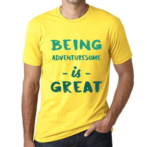 Being Adventuresome is Great, <span>Men's</span> T-shirt, Yellow, Birthday Gift 00378 - ULTRABASIC