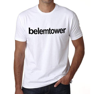 Belem Tower Tourist Attraction Mens Short Sleeve Round Neck T-Shirt 00071