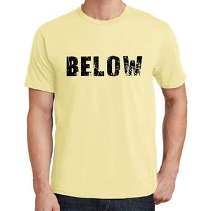 Below Mens Short Sleeve Round Neck T-Shirt 00043 - Yellow / S - Casual