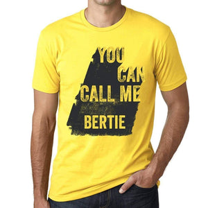Bertie You Can Call Me Bertie Mens T Shirt Yellow Birthday Gift 00537 - Yellow / Xs - Casual