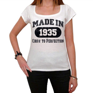Birthday Gift Made 1935 T-Shirt Gift T Shirt Womens Tee - White / Xs - T-Shirt