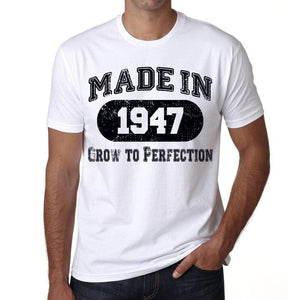 Birthday Gift Made 1947 T-Shirt Gift T Shirt Mens Tee - S / White - T-Shirt