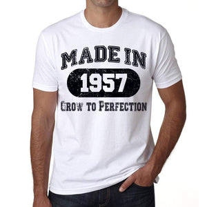 Birthday Gift Made 1957 T-Shirt Gift T Shirt Mens Tee - S / White - T-Shirt