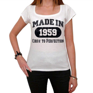 Birthday Gift Made 1959 T-Shirt Gift T Shirt Womens Tee - White / Xs - T-Shirt