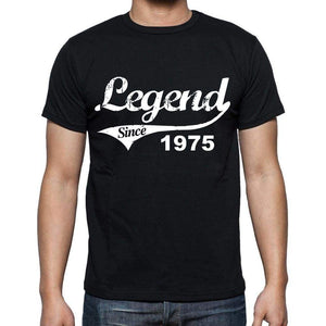 Birthday Gifts For Him 1975 T Shirts Men Vintage Black T-Shirt Rounded Neck Mens T-Shirt - T-Shirt
