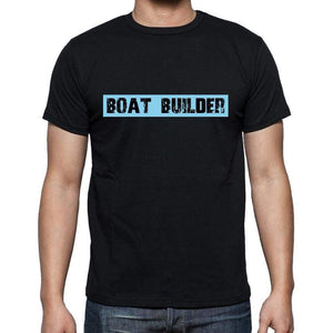 Boat Builder T Shirt Mens T-Shirt Occupation S Size Black Cotton - T-Shirt