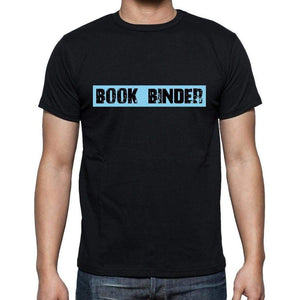 Book Binder T Shirt Mens T-Shirt Occupation S Size Black Cotton - T-Shirt