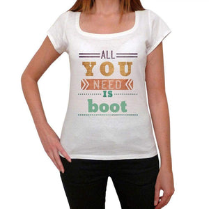 Boot Womens Short Sleeve Round Neck T-Shirt 00024 - Casual