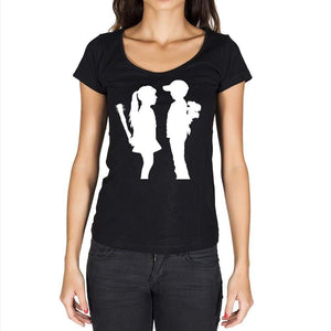 Boy Meets Girl Black Gift Tshirt Black Womens T-Shirt 00190