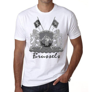 Brussels 1 T Shirts Men Short Sleeve T-Shirt T Shirt Cotton Tee Shirt For Mens 00182 - T-Shirt
