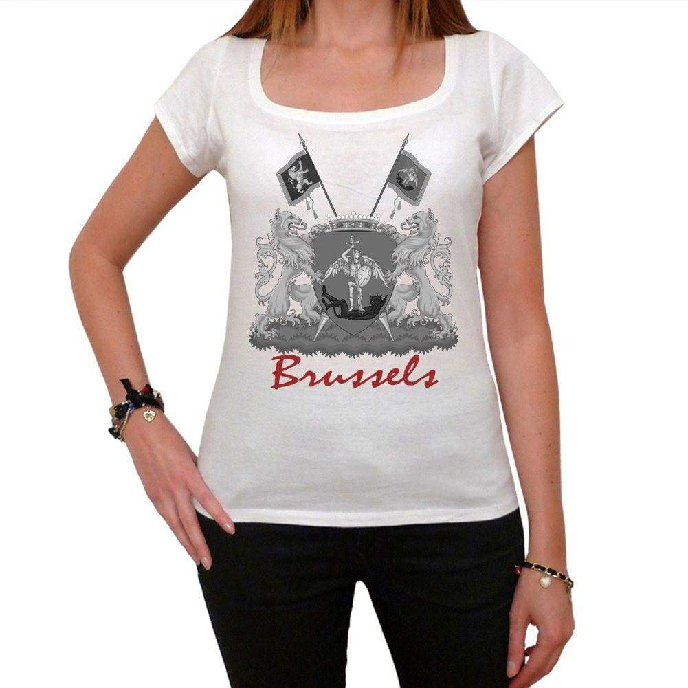 Brussels 1 Tshirt Womens Short Sleeve Scoop Neck Tee 00181