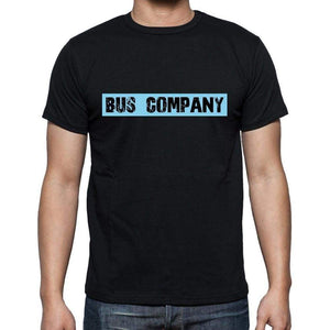 Bus Company T Shirt Mens T-Shirt Occupation S Size Black Cotton - T-Shirt