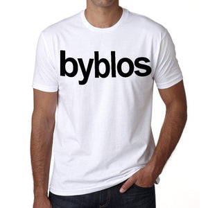 Byblos Tourist Attraction Mens Short Sleeve Round Neck T-Shirt 00071