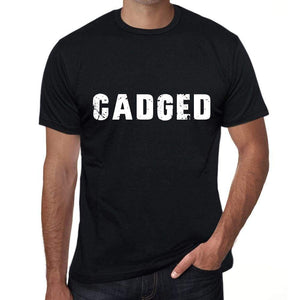 Cadged Mens Vintage T Shirt Black Birthday Gift 00554 - Black / Xs - Casual