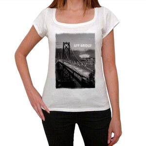 California Bay Bridge Womens Short Sleeve Round Neck T-Shirt 00111