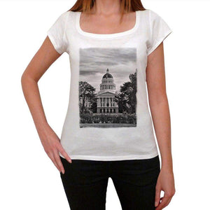 Capitol Building Womens Short Sleeve Round Neck T-Shirt 00111