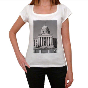 Central Viewo F Oklahoma Capitol Building Womens Short Sleeve Round Neck T-Shirt 00111