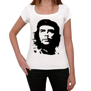 Che Guevar Old Celebrities White Womens Short Sleeve Round Neck T-Shirt Gift T-Shirt Gift T-Shirt 00312 - White / Xs - Casual