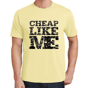 Cheap Like Me Yellow Mens Short Sleeve Round Neck T-Shirt 00294 - Yellow / S - Casual
