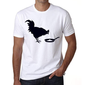 Chicken And The Egg Mens Tee White 100% Cotton 00164
